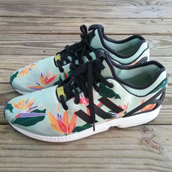 san francisco fbaea f1956 Adidas ZX Flux B34464 floral sea green sneaker 13